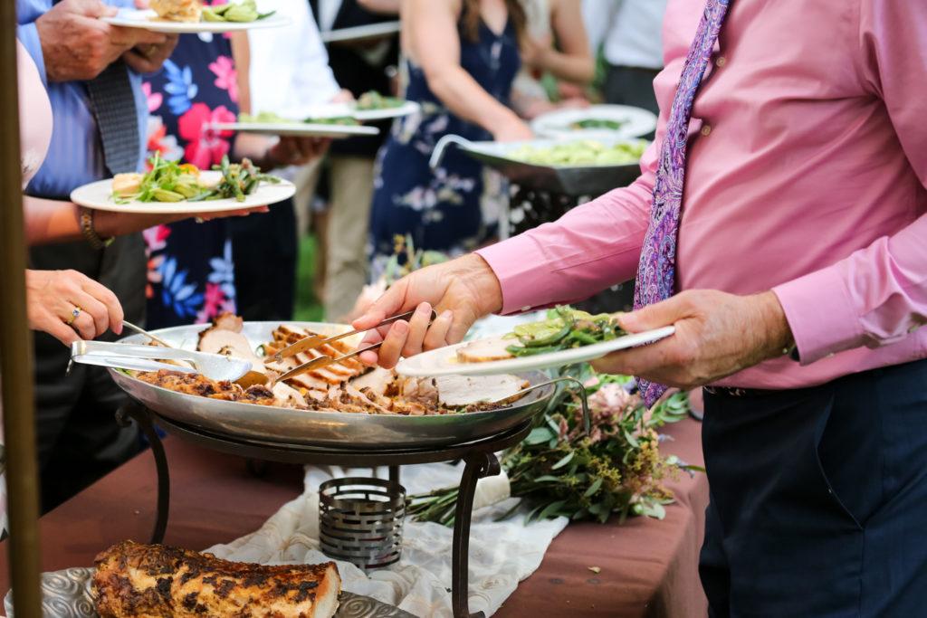 preferred sonoma caterers wedding dinner