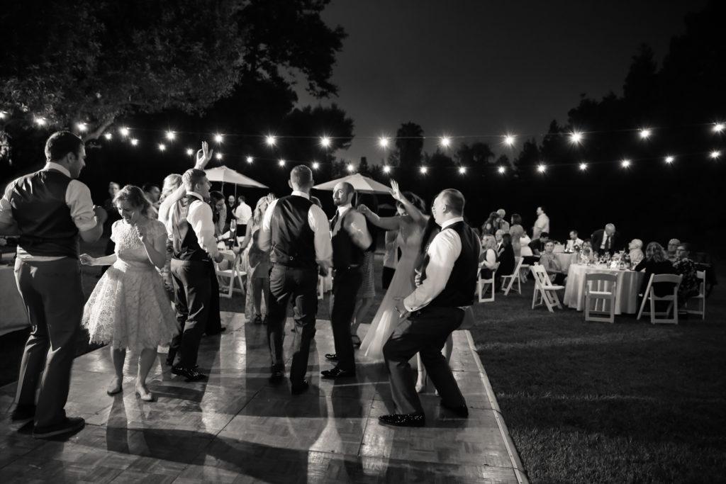 wedding reception at Cline Cellars
