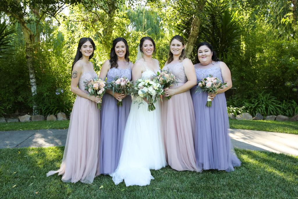bride and bridesmaids at cline cellars sonoma by magdalena stefanek photography