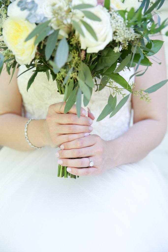 wedding bouquet and ring shot at Cline Cellars in Sonoma by Sonoma wedding photographer