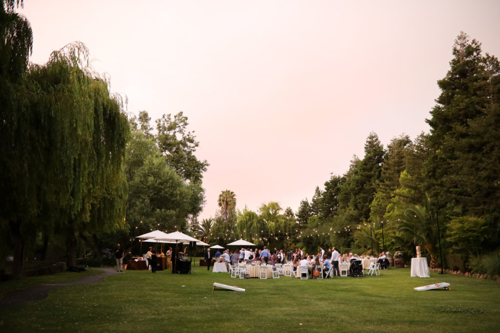 outdoor wedding reception at Cline Cellars Sonoma