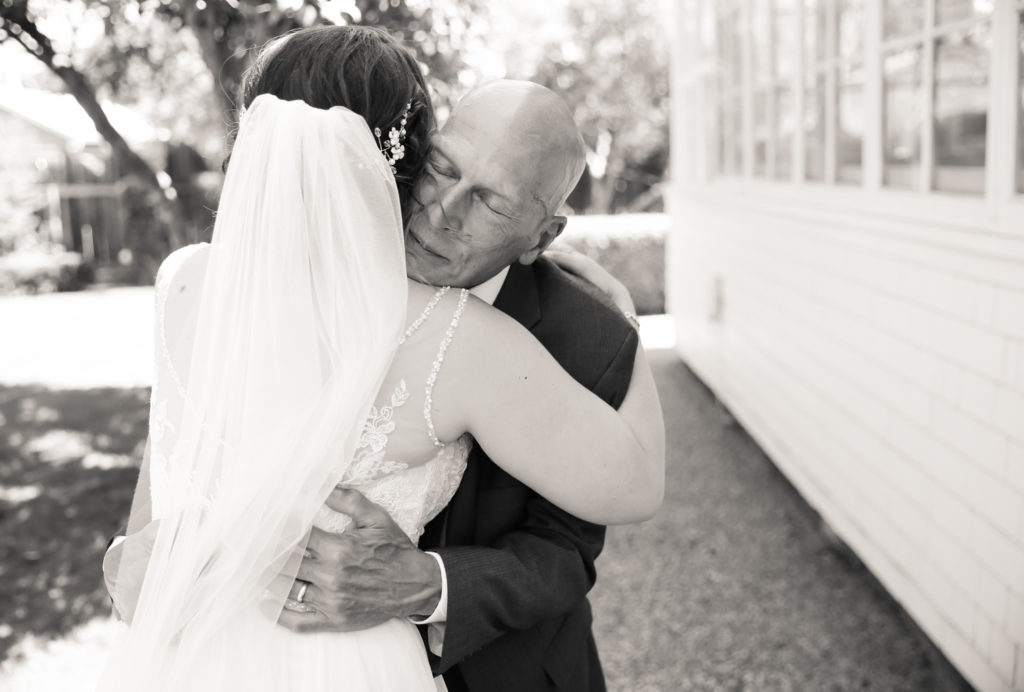 emotional first look between bride and her father by magdalena stefanek photography