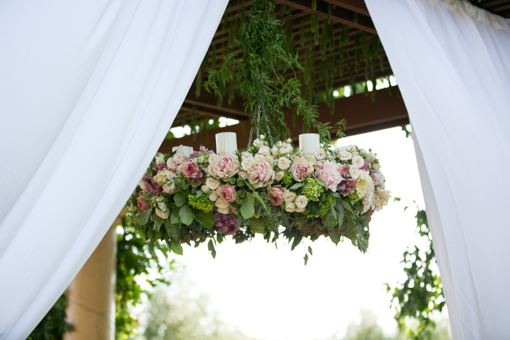 floral chandelier for a wedding