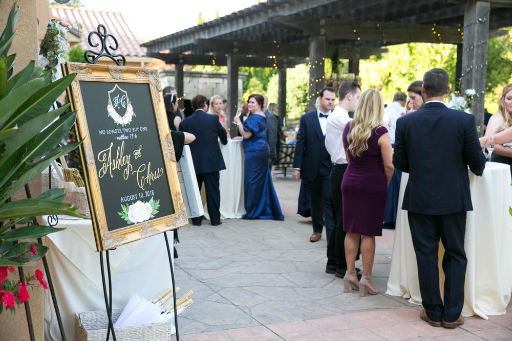 wedding reception at Vintners Resort