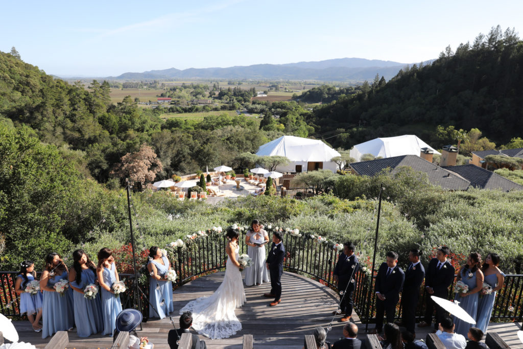 tying the knot at Auberge du Soleil