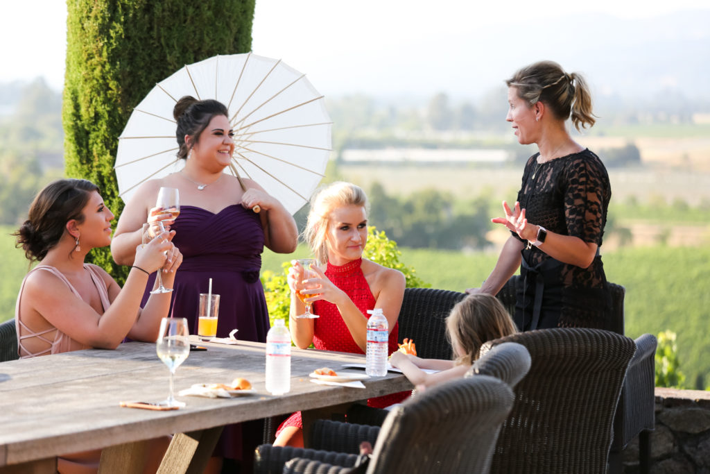 guests enjoying cocktail hour at Viansa Sonoma