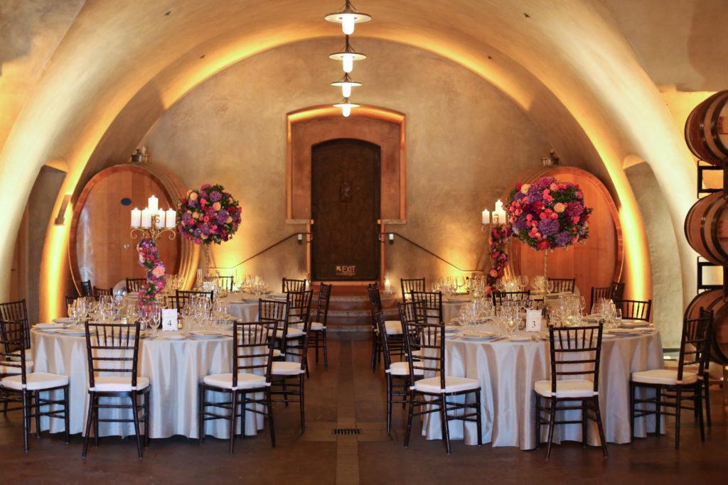cave at Viansa Winery wedding