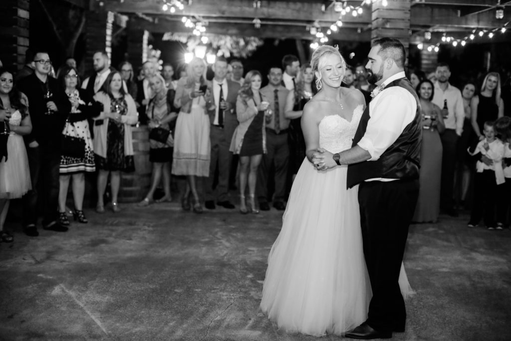 first dance at trentadue winery wedding reception