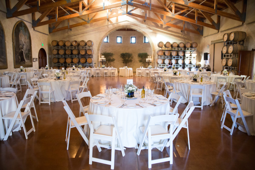 Wedding reception at Barrel room at Jacuzi Winery