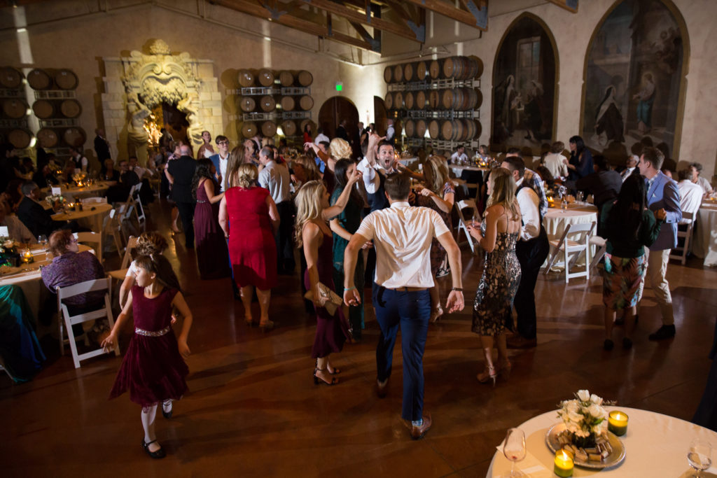 jacuzzi winery wedding reception
