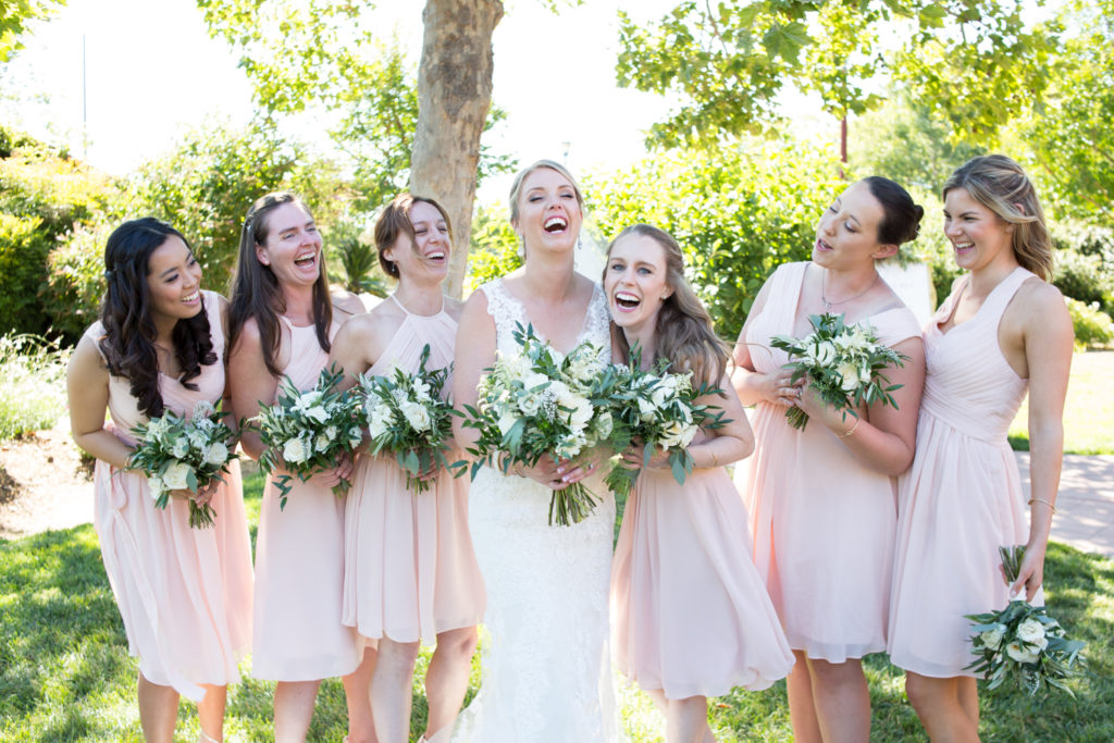 Bride and Bridesmaids at Vintners Inn