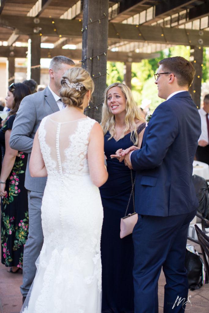 wedding reception at Vintners Inn