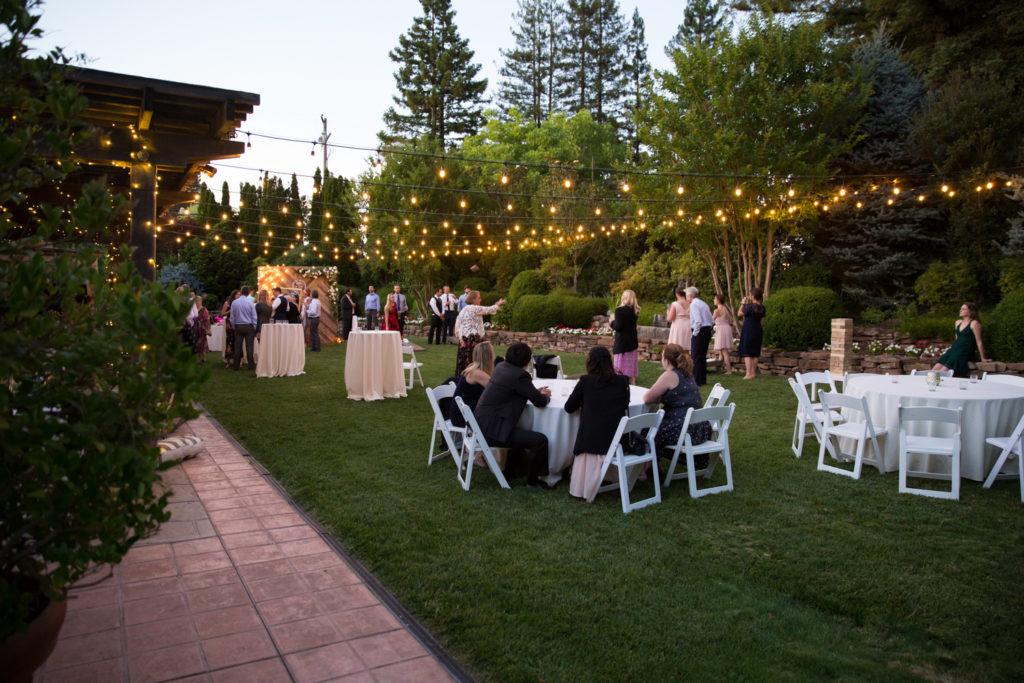 wedding reception at Vintners Inn Santa Rosa, CA