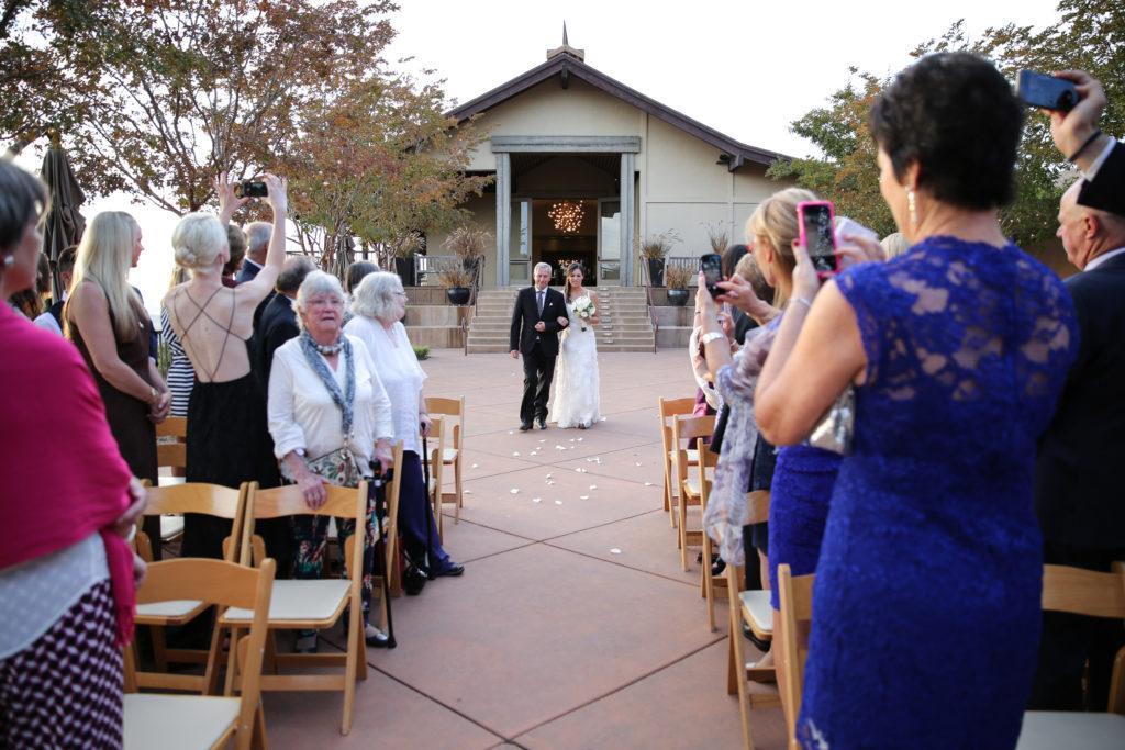 paradise ridge winery wedding ceremony