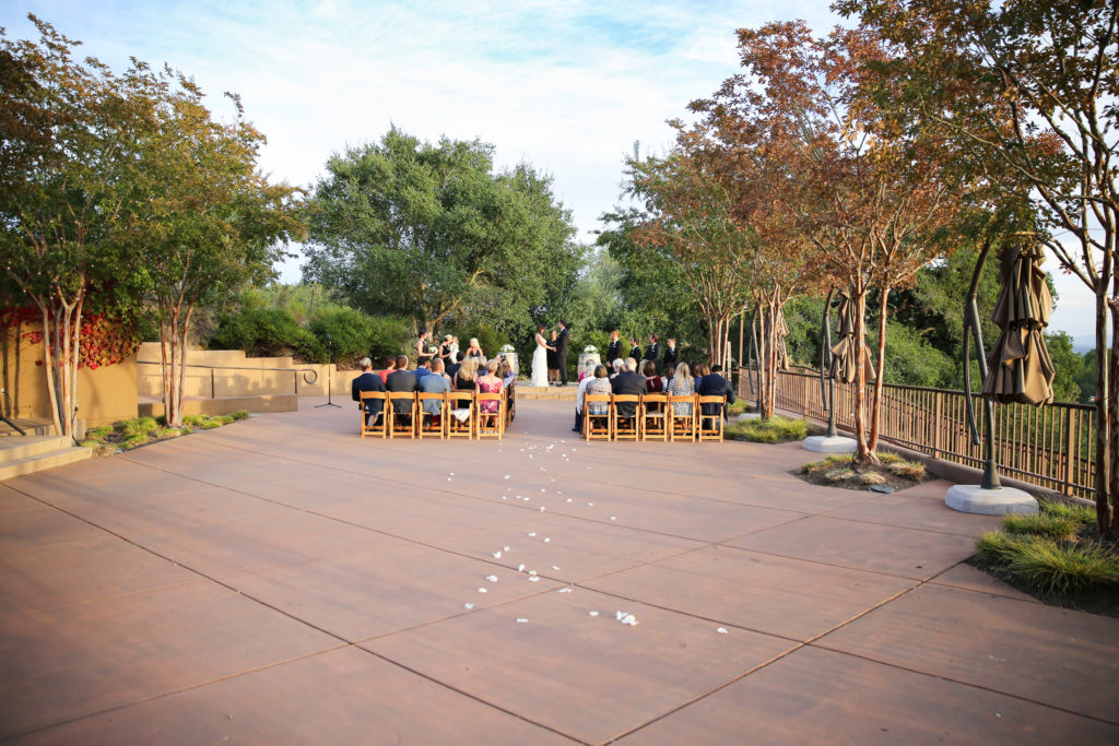 paradise ridge winery wedding ceremony site