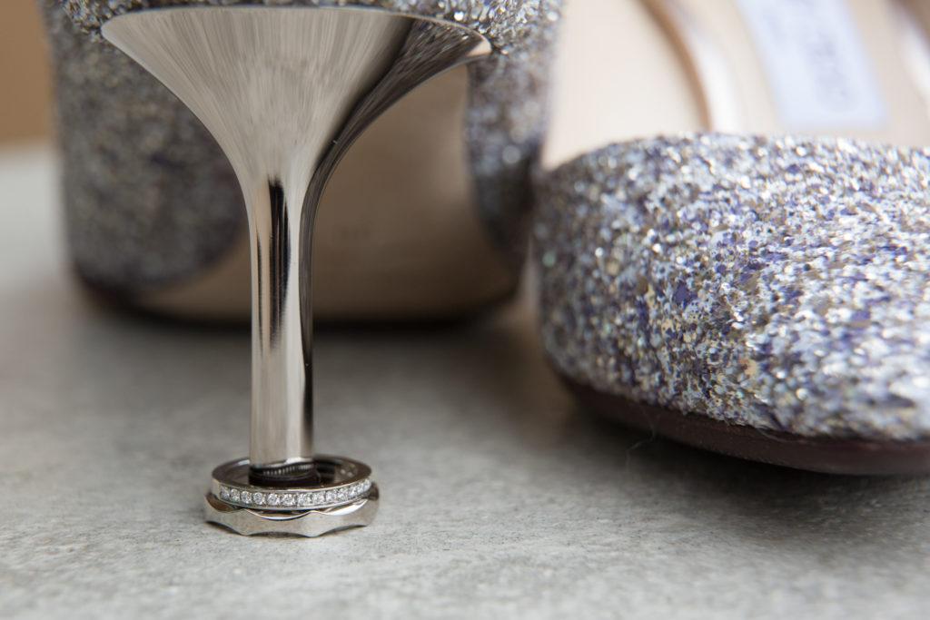 ring on jimmy choo bridal heel